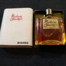 Miniaturas de perfumes antiguos: MINIATURA PERFUME MADERAS DE ORIENTE, MYRURGIA. Lote 167156418
