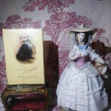 Miniaturas de perfumes antiguos: COLONIA PROMESA DE MYRURGIA,CAJA PRECINTADA TIPO1/16.. Lote 168232732