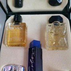 Miniaturas de perfumes antiguos: MAGNIFICA CAJA DE COLECION DE MINIATURAS DE PERFUMES. Lote 168280364