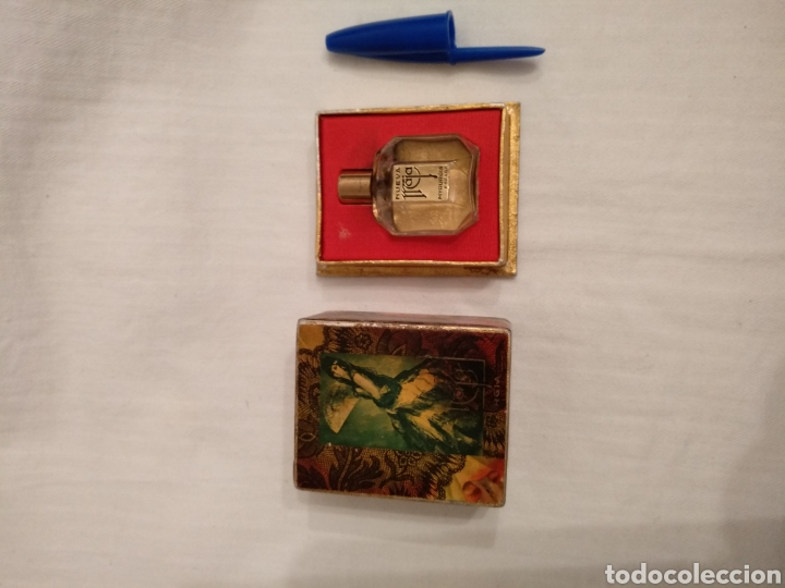 LOTE MAJA MYRURGIA. ANTIGUA CAJITA MINIATURA MAJA MYRURGIA Y DOS JABONES HOTEL MAJA MYRURGIA (Coleccionismo - Miniaturas de Perfumes)