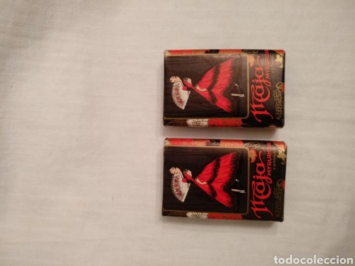 Miniaturas de perfumes antiguos: Lote MAJA MYRURGIA. Antigua cajita miniatura Maja Myrurgia y dos jabones hotel Maja Myrurgia - Foto 12 - 168973726