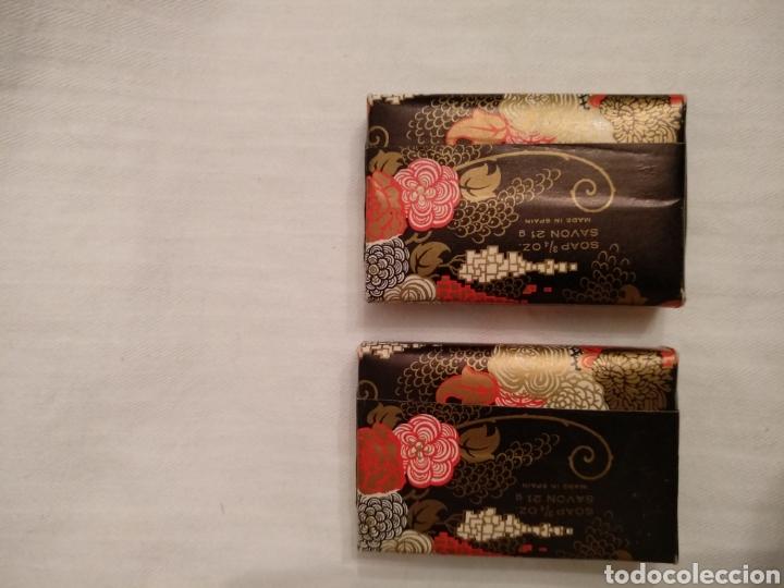 Miniaturas de perfumes antiguos: Lote MAJA MYRURGIA. Antigua cajita miniatura Maja Myrurgia y dos jabones hotel Maja Myrurgia - Foto 13 - 168973726