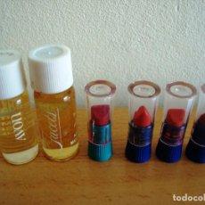 Miniaturas de perfumes antiguos: AVON - MUESTRAS PERFUMES Y PINTALABIOS. Lote 169073936
