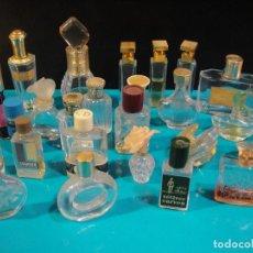 Miniaturas de perfumes antiguos: MINIATURAS DE PERFUMES 25 UNIDADES , PRIMERAS MARCAS - VACIAS. Lote 169283254
