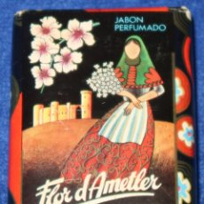 Miniaturas de perfumes antiguos: JABÓN PERFUMADO - FLOR DE AMETLER - BERNAL VALLORY - ROVER - MALLORCA. Lote 170320720