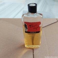 Miniaturas de perfumes antiguos: TULIPAN NEGRO BRISEIS ALMERÍA. MINI COLONIA LLENA SIN ABRIR CON UN POCO DE EVAPORACIÓN. TAPÓN ROTO.. Lote 170348789