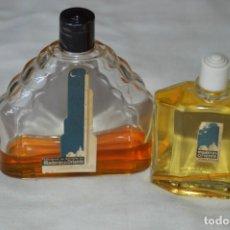 Miniaturas de perfumes antiguos: 2 ANTIGUOS FRASCOS - MADERAS DE ORIENTE - MYRURGIA - ORIGINALES - ¡MIRA FOTOS Y DETALLES!. Lote 170746280