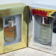 Miniaturas de perfumes antiguos: CAROLINA HERRERA - PERFUME Y COLONIA MEN - MINIATURAS DE 4 Y 5 ML.. Lote 171677715