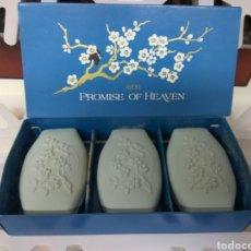 Miniaturas de perfumes antiguos: AVON JABÓN PERFUMADO PROMISE OF HEAVEN. Lote 171731319