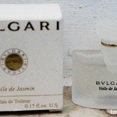Miniaturas de perfumes antiguos: BVLGARI VOILE DE JASMIN EAU DE TOILETTE - MINIATURA DE 5 ML. Lote 172237524