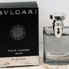 Miniaturas de perfumes antiguos: BVLGARI POUR HOMME SOIR EAU DE TOILETTE - MINIATURA DE 5 ML. Lote 172239650