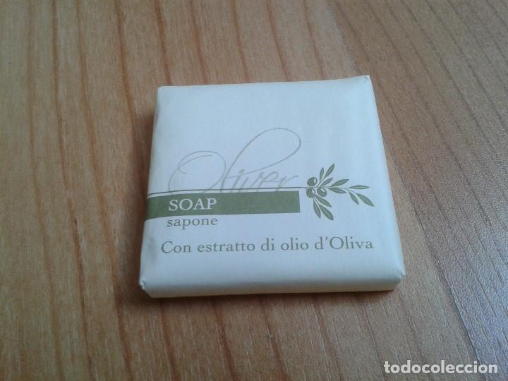 PASTILLA DE JABÓN -- SOAP, SAPONE -- CON ESTRACTO DE ACEITE DE OLIVA (Coleccionismo - Miniaturas de Perfumes)