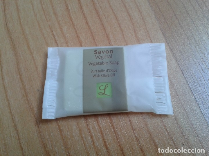PASTILLA DE JABÓN -- SAVON VÉGÉTAL -- VEGETABLE SOAP -- CON ACEITE DE OLIVA (Coleccionismo - Miniaturas de Perfumes)