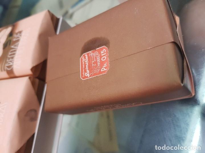 Miniaturas de perfumes antiguos: ANTIGUA CAJA ESTUCHE PERFUMERIA JABON DE ALMENDRAS QUIMIFLOR - Foto 4 - 173662257