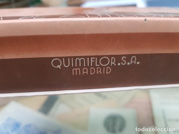 Miniaturas de perfumes antiguos: ANTIGUA CAJA ESTUCHE PERFUMERIA JABON DE ALMENDRAS QUIMIFLOR - Foto 6 - 173662257