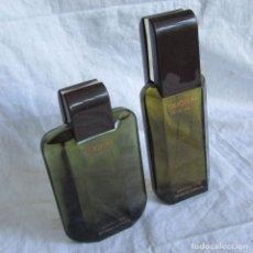 Miniaturas de perfumes antiguos: FRASCO DE COLONIA + FRASCO DE AFTER SHAVE QUORUM ANTONIO PUIG. Lote 174183860