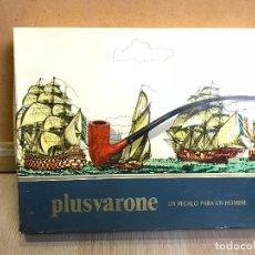 Miniaturas de perfumes antiguos: PRECIOSO ESTUCHE DE LUJO PLUSVARONE DE COLONIA, JABON Y AFTER SHAVE DE CABALLERO .. Lote 175252672