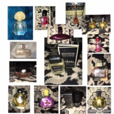 Miniaturas de perfumes antiguos: LOTE 15 PERFUMES ORIGINALES EN MINIATURA. Lote 175507877
