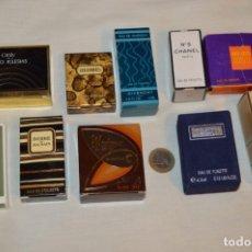 Miniaturas de perfumes antiguos: LOTE 07 - 10 COLONIAS / PERFUMES MINIATURA, VARIADOS Y EN CAJAS ORIGINALES ¡MIRA FOTOS Y DETALLES!. Lote 176641743