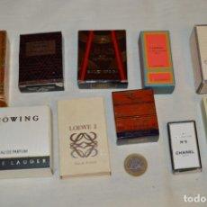 Miniaturas de perfumes antiguos: LOTE 08 - 10 COLONIAS / PERFUMES MINIATURA, VARIADOS Y EN CAJAS ORIGINALES ¡MIRA FOTOS Y DETALLES!. Lote 176642948