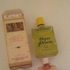 Miniaturas de perfumes antiguos: LOTE DE 3 ANTIGUOS FRASCOS DE PERFUME MIRURGIA Y HENO DE PRAVIA (VER FOTOS Y LEER DESCRIPCION). Lote 176764025