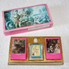 Miniaturas de perfumes antiguos: VERA - JABONES PERFUMADOS EN CAJA - SIGLO DE ORO. Lote 177069530