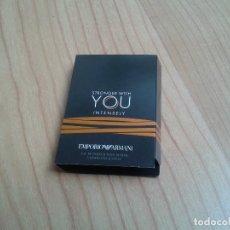 Miniaturas de perfumes antiguos: STRONGER WITH YOU INTENSELY -- EMPORIO ARMANI -- EAU DE PARFUM -- MINIATURA DE PERFUME -- MUESTRA . Lote 177935018