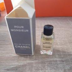 Miniaturas de perfumes antiguos: MINIATURA CHANEL POUR MONSIEUR. Lote 178201690