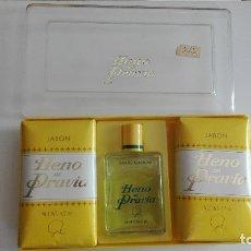 Miniaturas de perfumes antiguos: GAL ESTUCHE HENO DE PRAVIA MADE IN SPAIN VER FOTOS ESTADO. Lote 178337263