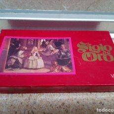 Miniaturas de perfumes antiguos: CAJA DE JABON SIGLO DE ORODE VERA CON 3 JABONES VELAZQUEZ * SIN ABRIR *. Lote 178353183