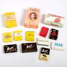 Miniaturas de perfumes antiguos: 13 JABONES VINTAGE VARIADOS. DE HOTELES Y OTROS.. Lote 178392895