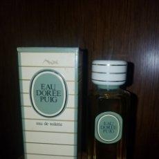 Miniaturas de perfumes antiguos: COLONIA EAU DOREE DE PUIG,100ML,DESCATALOGADA. Lote 178933507