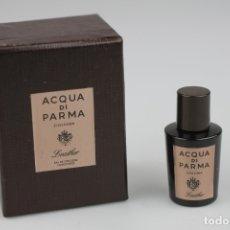 Miniaturas de perfumes antiguos: MINIATURA ACQUA DI PARMA COLONIA LEATHER EDC CONCENTRÉE 5 ML . Lote 178986962