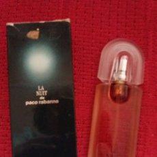 Miniaturas de perfumes antiguos: LA NUIT DE PACO RABANNE - EAU DE PARFUM 50ML.. Lote 179001460