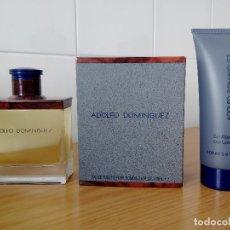 Miniaturas de perfumes antiguos: COLONIA ADOLFO DOMINGUEZ 100 ML + AFTER SHAVE GEL 100 ML - A ESTRENAR DESCATALOGADO. Lote 180037666