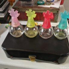 Miniaturas de perfumes antiguos: 4 FRASCOS DE LA COLONIA PUZZLES. Lote 180224165