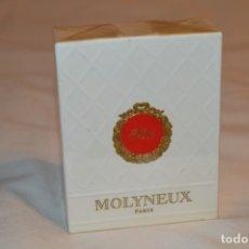 Miniaturas de perfumes antiguos: FÊTE DE MOLYNEUX - VINTAGE - ESTUCHE ORIGINAL PRECINTADO, NUEVO - REF. 2562 / 80º - 3 1/2 FL. OZ.. Lote 181758330