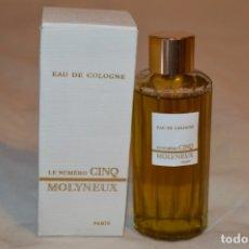 Miniaturas de perfumes antiguos: LE NUMÉRO CINQ MOLYNEUX / EAU DE COLOGNE - VINTAGE - ESTUCHE ORIGINAL - REF. 4042 - 90º - ¡MIRA!. Lote 181765187