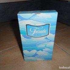 Miniaturas de perfumes antiguos: BOTE COLONIA FARALA IN BLUE 100ML AÑOS 80 ENTERO NUEVO. Lote 182878692