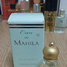 Miniaturas de perfumes antiguos: EAU DE MAHILA 5ML.FRANÇOIS D'URBILLE.(POCA PRODUCCIÓN). Lote 183011461