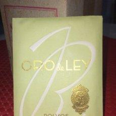 Miniaturas de perfumes antiguos: POLVOS ORO DE LEY - ROBILLARD, S.A. - VALENCIA - AÑOS 30 - PARA LA BELLEZA - CAJA COMPLETA. Lote 183207048