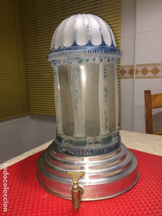 DISPENSADOR DE COLONIAS - MODERNISTA - AÑOS 20 - COLONIAS COLUMBIA - UNOS 15 LITROS . ¡¡¡ ÚNICO !!! (Coleccionismo - Miniaturas de Perfumes)