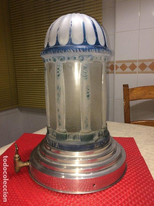 Miniaturas de perfumes antiguos: DISPENSADOR DE COLONIAS - MODERNISTA - AÑOS 20 - COLONIAS COLUMBIA - UNOS 15 LITROS . ¡¡¡ ÚNICO !!! - Foto 5 - 183207680