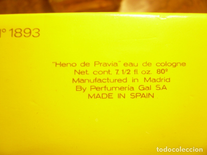 Miniaturas de perfumes antiguos: HENO DE PRAVIA AGUA DE COLONIA. NUEVA EN SU CAJA. 7 1/2 FL. 0Z 80º Nº 147 - Foto 9 - 183338083
