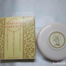 Miniaturas de perfumes antiguos: MADERAS DE ORIENTE, POLVO SUELTO, VINTAGE. Lote 183868375
