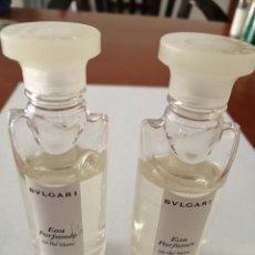 Miniaturas de perfumes antiguos: BULGARI LOTE 2 MINIATURAS CHAMPÚ Y GEL DE DUCHA MINIATURAS HOTEL 50 ML.. Lote 184529720