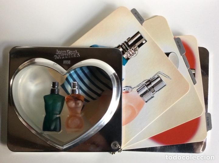 2MINIATURAS JEANNETTE PAUL GAULTIER EN SU ESTUCHE ORIGINAL MUY BUSCADO Y RARO DE 13X14CM (Coleccionismo - Miniaturas de Perfumes)