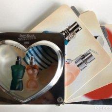 Miniaturas de perfumes antiguos: 2MINIATURAS JEANNETTE PAUL GAULTIER EN SU ESTUCHE ORIGINAL MUY BUSCADO Y RARO DE 13X14CM. Lote 184829225