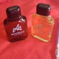 Miniaturas de perfumes antiguos: 2 MADRAS DE MYRURGIA COLONIA HOMBRE 50 ML POUR HOMME AFTER SHAVE DESCATALOGADO NO TIENE CAJA. Lote 186399836