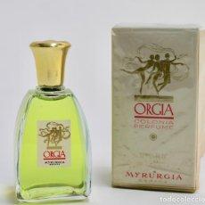 Miniaturas de perfumes antiguos: COLONIA PERFUME ORGIA. MYRURGIA. . Lote 187089825